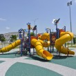 Children Outdoor Playground in Seremban — Stock Photo #79895934