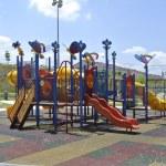 Children Outdoor Playground in Seremban — Stock Photo #79895996