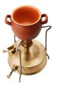 Kerosene burner and ceramic pot — Stockfoto