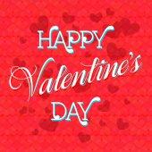 Valentine's Day Lettering Card — 图库矢量图片