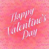 Cartão de dia dos namorados letras — Vetor de Stock