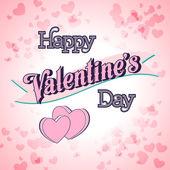 День Святого Валентина надписи карта — Cтоковый вектор