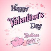 Valentines Day Lettering Card — Stock Vector
