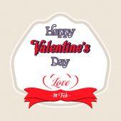 Valentines Day Lettering Card — Stock vektor