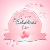 Valentines Day Lettering Card — Διανυσματικό Αρχείο