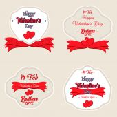 Set of  Happy Valentines Day Greeting Cards — 图库矢量图片