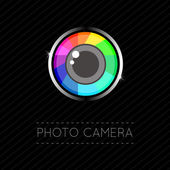 Single Flat Photo Camera Icon  — 图库矢量图片