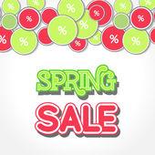 Spring Sale Design Illustration — Stock Vector