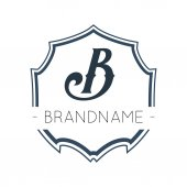 Geometric Logotype Design Template — Stock Vector