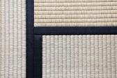 Japanese Tatami Rug Background with three Tatamis Joining — Stock Photo