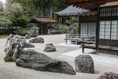 Traditional Japanese Zen Garden with Stones. — Stock Photo