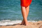 Beautiful woman's leg — Stock Photo