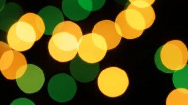 Blurred Christmas Lights — Stock Video