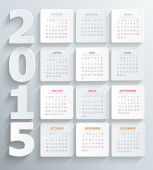 French calendar 2015 relief 3d — Stock Photo