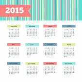 French calendar 2015 new year vintage — Stock Photo