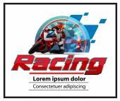Motor racing logo event — Stock Vector