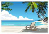 Beautiful Beach — Stock Vector