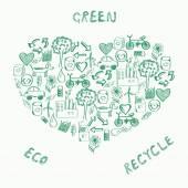 Concept of sustainable way of development — Stock Vector
