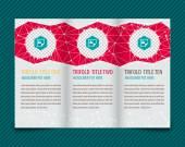 Design for trifold brochure — Stok Vektör