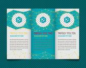 Design for trifold brochure — Stockvector