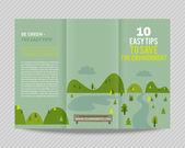 Ecological design  brochure — Stock Vector
