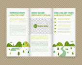 Ecological brochure — Vettoriale Stock