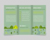 Ecological brochure — Stock Vector