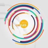 Abstract  backdrop with circle — Vetorial Stock