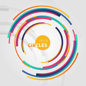 Abstract  backdrop with circle — Stockvektor