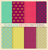 Geometric seamless patterns — Stock Vector
