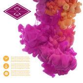 Ink swirling in water — Stock Vector