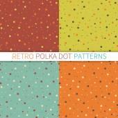 Seamless polka dot patterns — Stock Vector