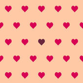 Valentine's seamless pattern with hearts — Stock Vector