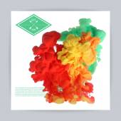 Splashes of paint — Stock Vector