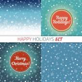 Set of holidays greeting cards — Stock Vector