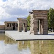 The Temple of Debod (Templo de Debod), an ancient Egyptian temple which was rebuilt in Madrid — Stock Photo #65194429