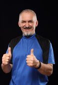Man with smile in sport 40 - 50 year  — Stock Photo