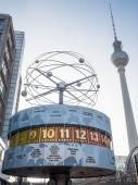 World Clock on Alexanderplatz — Stock Photo