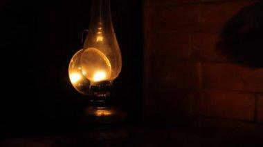 Adjusting the Petrol Lamp Intensity — Vídeo de Stock