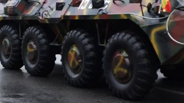 Armored Transportation Vehicle — Video Stock