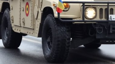 Army Offroad Vehicle — Stockvideo