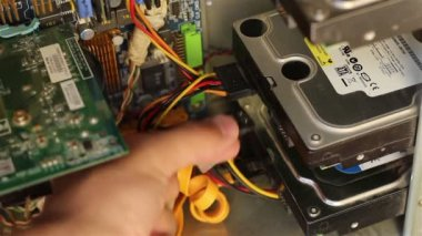 Connecting Hard Disk Drive — Stockvideo