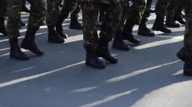 Determined Military Boots March — Vídeo de stock