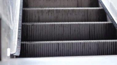 Escalator Stairs Close Up — Stock Video
