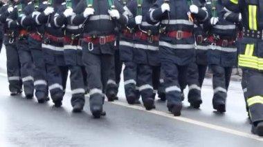 Firemen Unit — Stock Video