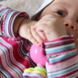 Playing Baby Girl Face — Stock Video #63799803