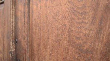 Knocking on Wooden Door — Stock Video