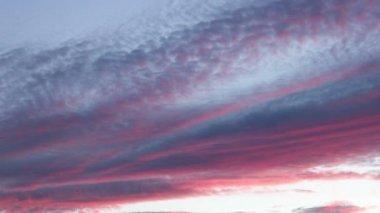Mangenta Colorful Sunset Timelapse — Stock Video