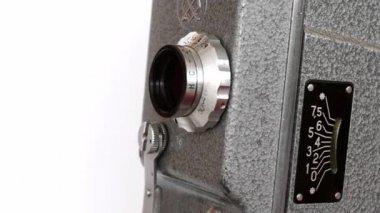 Old Hand Held Reel Film Camera 2 — Stock Video