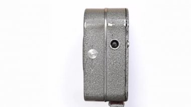 Old Hand Held Reel Film Camera 7 — Stock Video